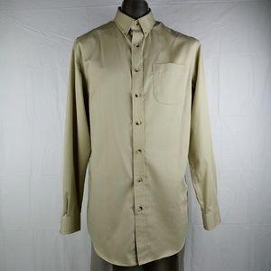 L.L. Bean Wrinkle Resistant Trim Fit Shirt M-Tall